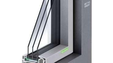 Aluminium-Kunststoff-Fenster